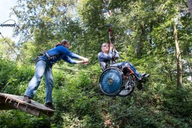 """Flying Fox"" im Waldseilpark Rummelsberg - ©Thomas Geiger-KUNZ PR"