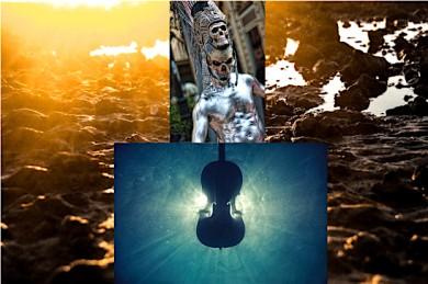 (1) Schlamm_unsplash-daniel-sturgess (2) Underwater music_unsplash-josep-molina (3) Postando_Body Art - ©Postando