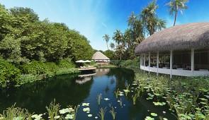 Malediven-Insel Hirundhoo