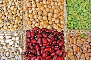 Hülsenfrüchte am Markt